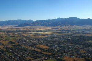 Aerial view of Bozeman, MT
