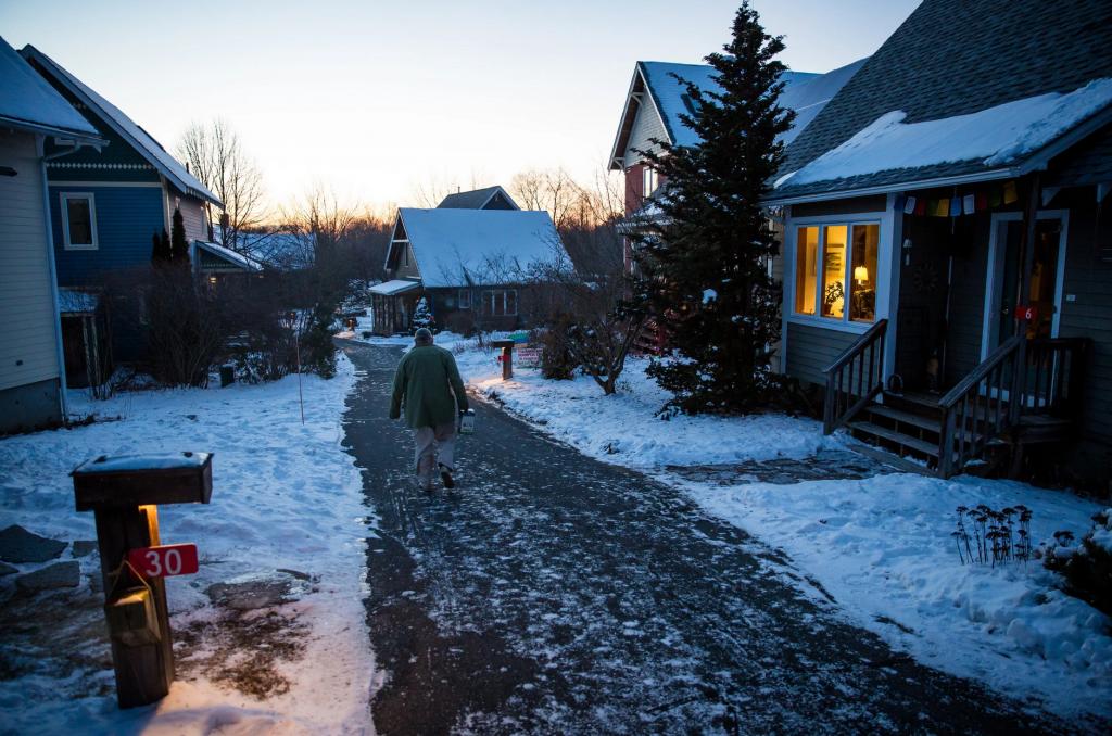 Man in cohousing community