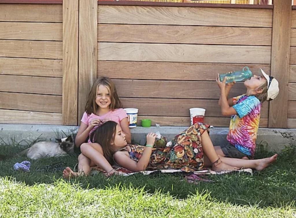 Children enjoying cohousing life